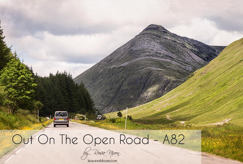 this is an image introducing my Out on the open road along the A82 series of images