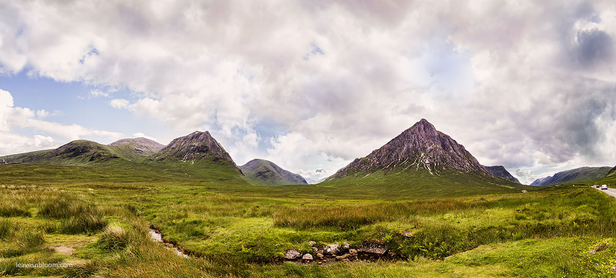 this is an image of Buachaille Etive Mor range of mountains