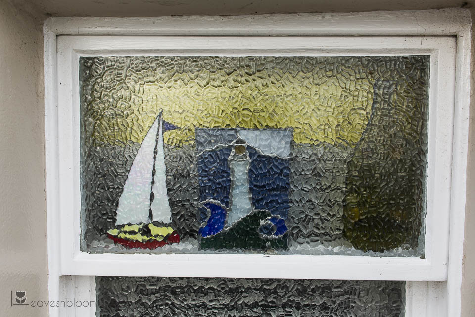 boat in glass window