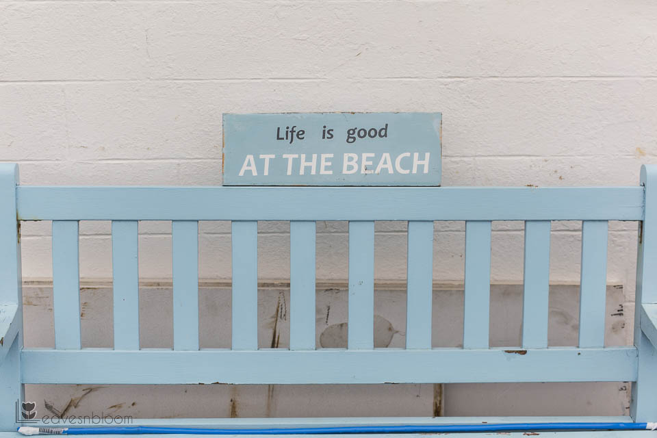 life is good at the beach sign