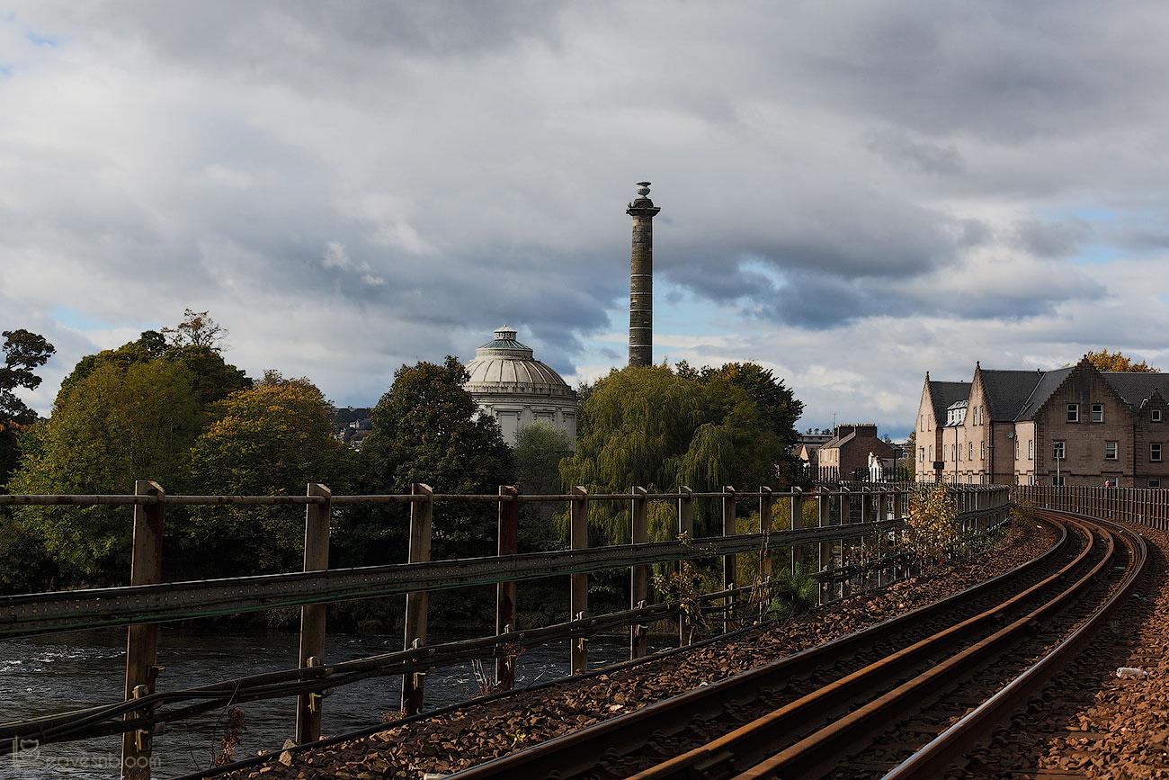 the view from the railway footbridge across to the Ferguson Gallery as seen on Scott Kelby's Photowalk