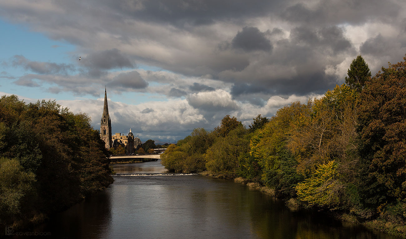 Scott Kelby's Photowalk - a view over to St Matthews church in Perth from the River Tay and seen on Scott Kelby's Photowalk