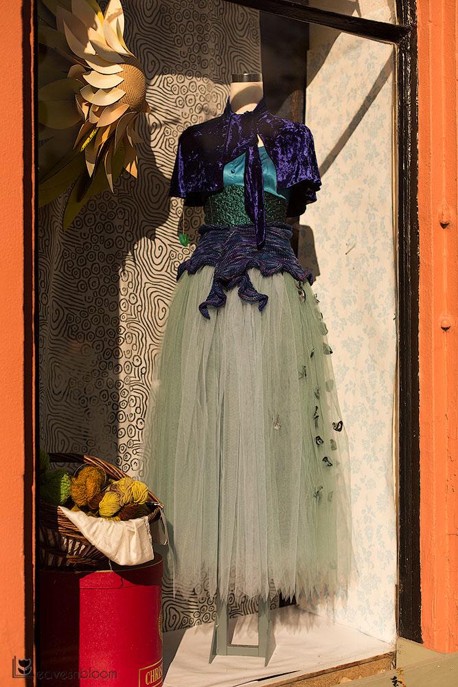 a dress in a shop window along the Scott Kelby's Photowalk route