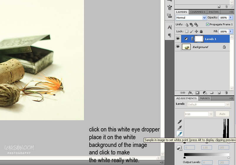 white dropper tool in photoshop