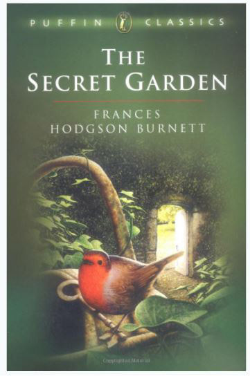 The secret garden novel featuring a robin on the front cover