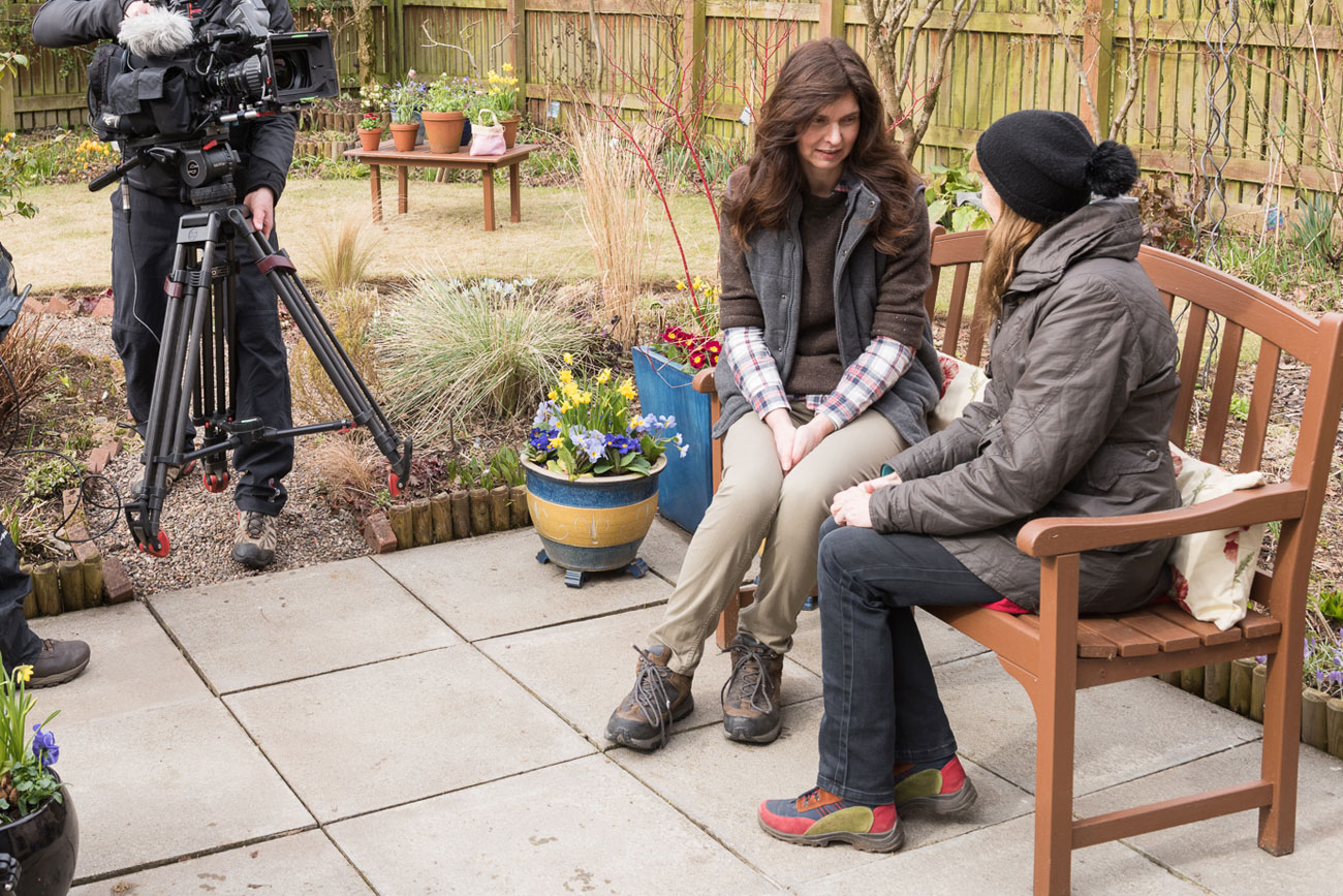 Rosie Nixon photography speaking to Carole Baxter on BBC2 Beechgrove Garden