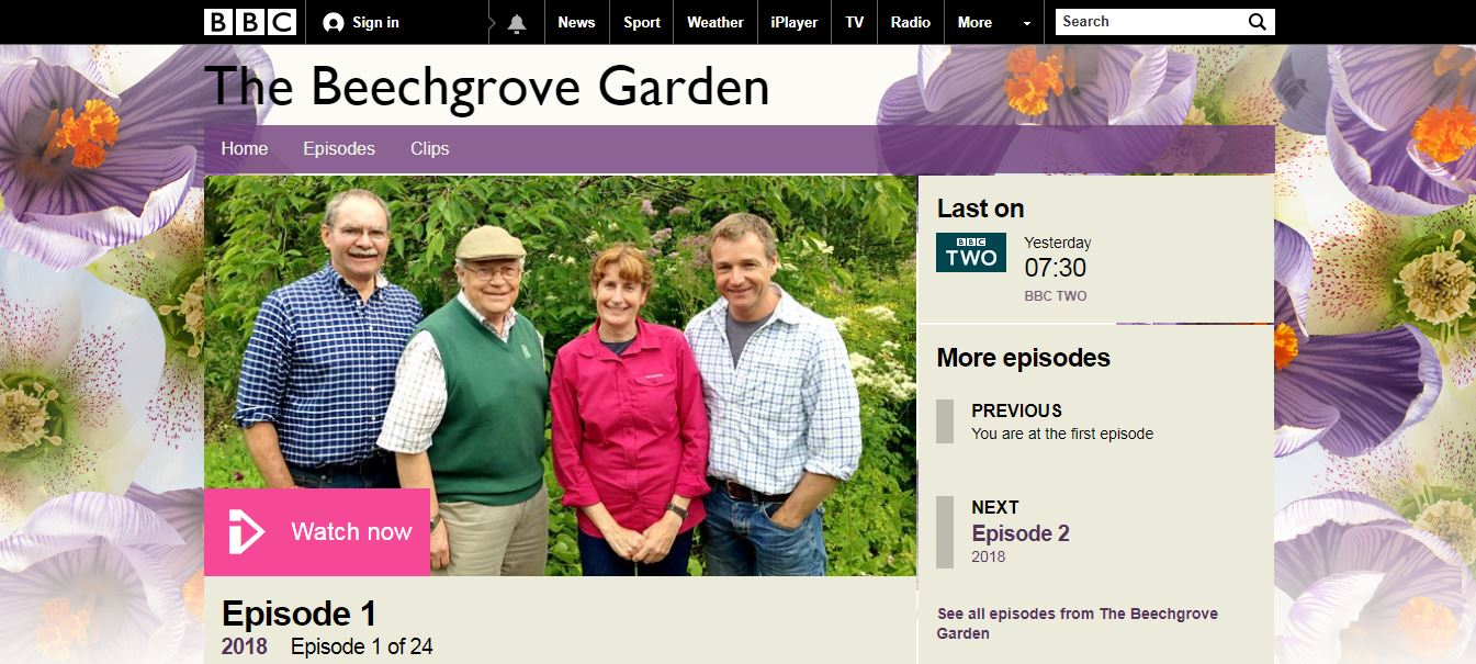 Rosie Nixon flower photography on Beechgrove Garden BBC2 with Carole Baxter